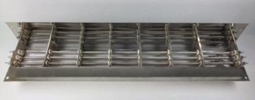 Bateria de resistencias electricas utilizada en puertas rapidas de acceso a camaras de congelacion